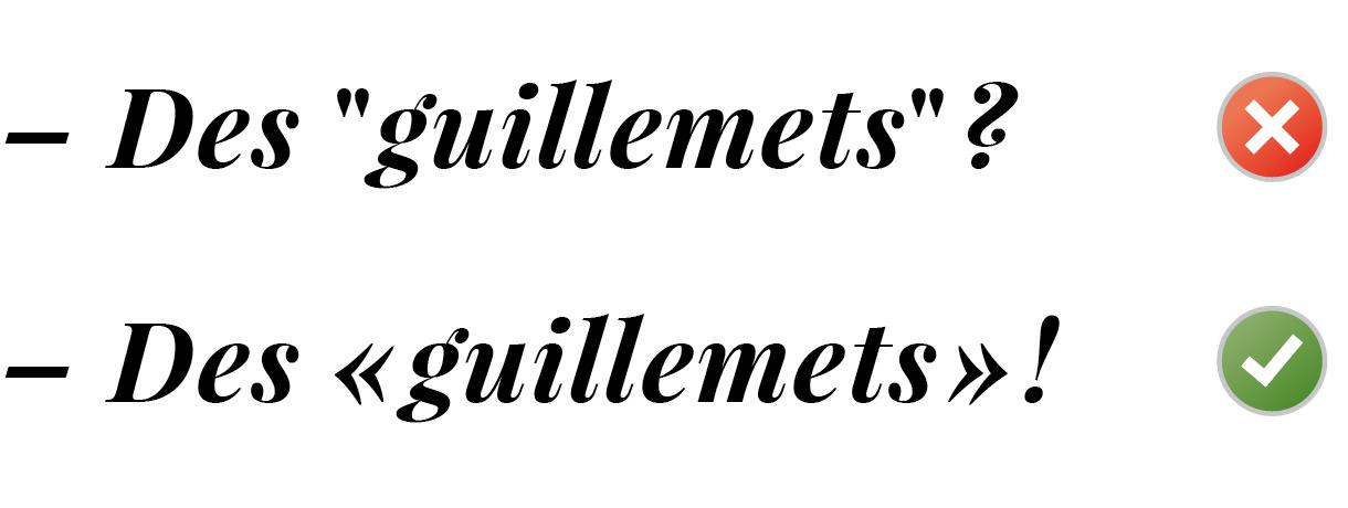 Favorit Utilisez les bons guillemets typographiques | Bruno Bernard  YZ41